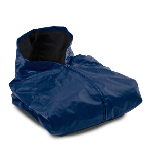 FLEECE LINED SIDELINE CAPE-NAVY