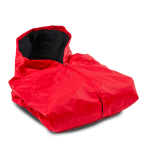 FLEECE LINED SIDELINE CAPE-RED